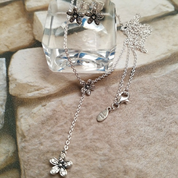 17d6d2197 Pandora Jewelry | Dazzling Daisies Earrings And Necklace | Poshmark